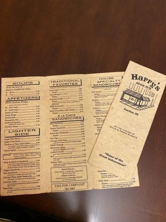 Harry's menus from 90's?